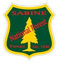 Sabine National Forest Sticker R3297 Texas You Choose Size - $1.45+