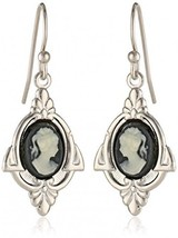 1928 Jewelry Embellish Vintage-Inspired Cameo Drop Earrings - $35.44