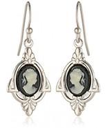 1928 Jewelry Embellish Vintage-Inspired Cameo Drop Earrings - $35.44