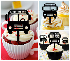 Decorations Wedding,Birthday Cupcake topper,silhouette Back to school : 10 pcs - $10.00