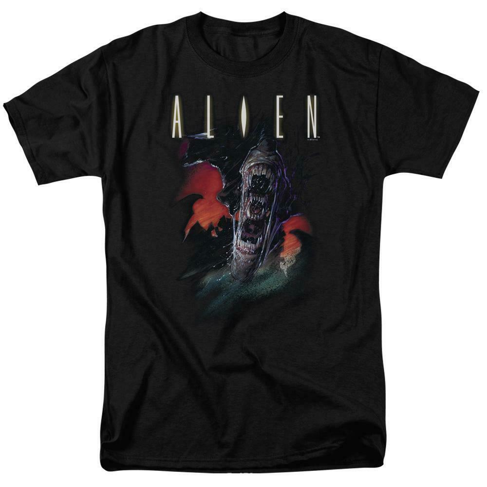 Alien movie t-shirt retro sci-fi horror film 100% cotton graphic tee TCF285