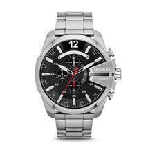 Diesel DZ4308 Mega Chief Silver Chronograph Mens Watch - $139.93 CAD