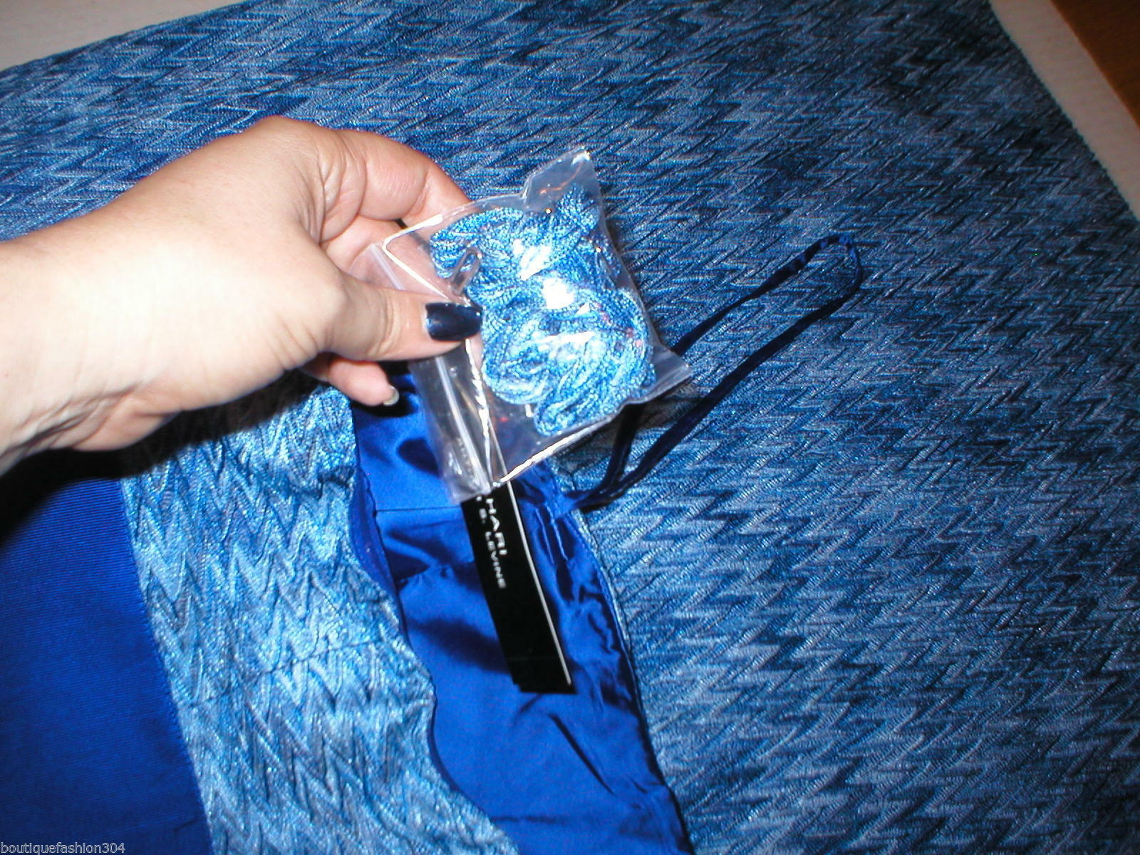 New Womens NWT Tahari Dress Sail Away Maxi Long Strapless Straps 2 Blue White