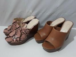 Jessica Simpson's Set of 2 Shantelle Wedge Slide Sandals Size 5 - $60.34