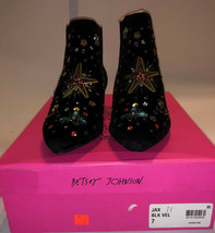 NWB Betsey Johnson  Womens Jax Velvet Embellished Booties Size 7M - £52.18 GBP