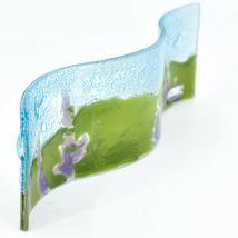 Fused Art Glass Purple Lupine Flower Floral Wavy Sun Catcher Handmade in Ecuador image 3