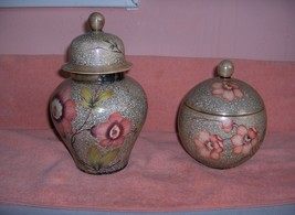 Vintage 4 Pc Rosenthal China Painted Ginger Candy Trinket Jars Signed Ro... - $123.75