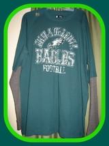 Philadelphia Eagles NFL Team Apparel Men's Green/Gray Longsleeve T-Shirt... - $32.62