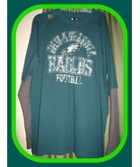 Philadelphia Eagles NFL Team Apparel Men's Green/Gray Longsleeve T-Shirt... - $32.62