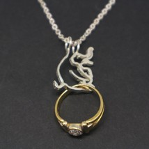Silver Elephant Ring Holder Necklace Pendant - $50.00