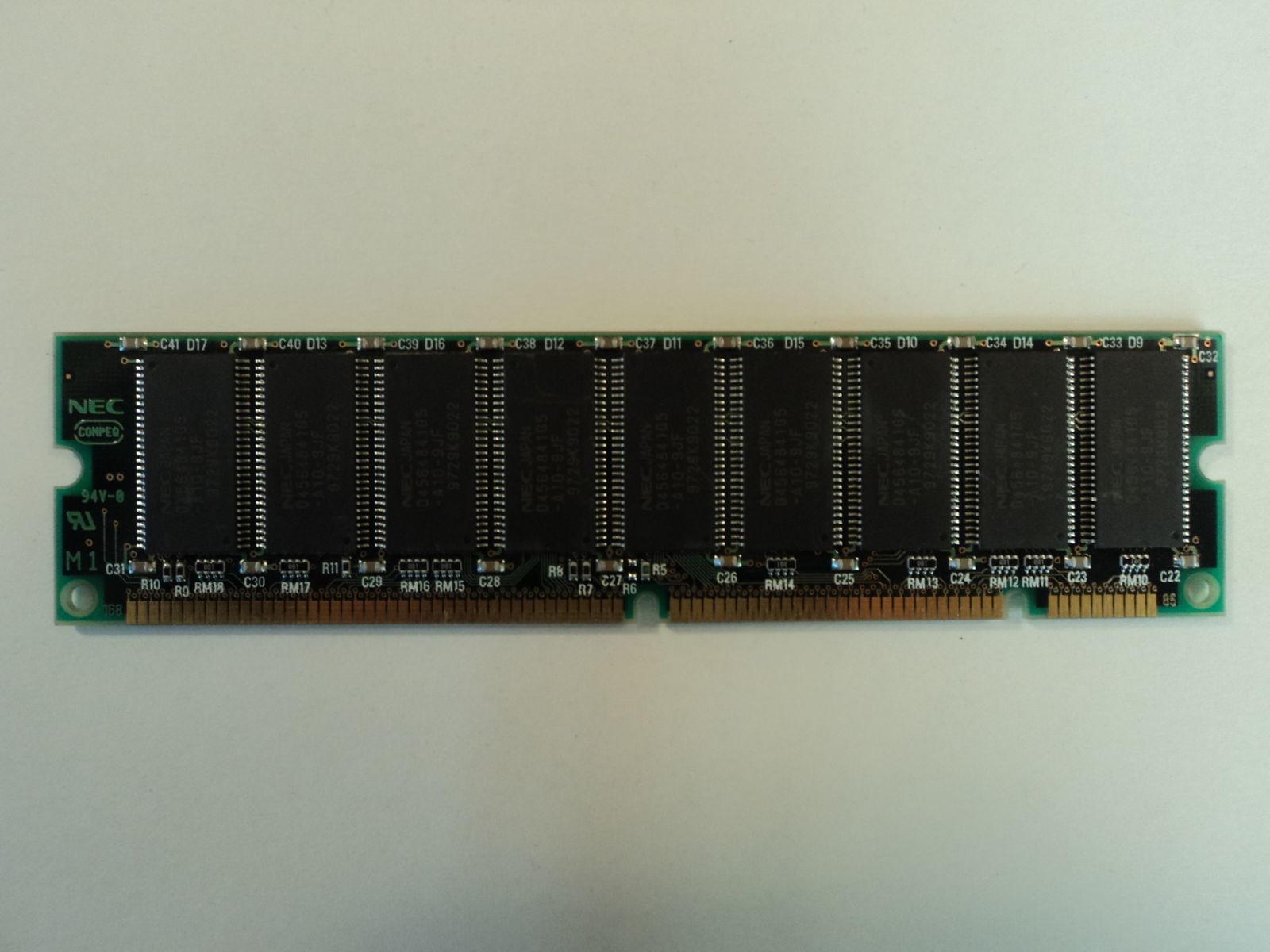 Toshiba RAM Memory Stick 64MB UNSDRAM TC59S6408FT-10 16 x 64 17995 Goldenram