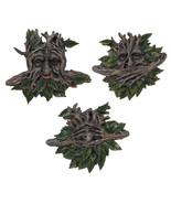 Pacific Giftware Greenman See, Hear, Speak No Evil Sculpture Wall Plaques Set... - $69.29