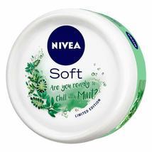 NIVEA Soft Light Moisturizer Cream Chilled Mint With Vitamin E & Jojoba Oil image 4