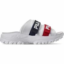 Men's Fila Outdoor Slide Sandals White/Navy/Red 1SM00092 125 - $70.59