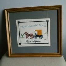 Handmade, Signed Needlepoint Embroidery of Amis... - $24.18
