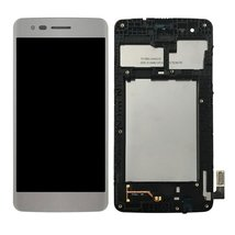 LCD Display Digitizer Touch Screen Assembly with Frame for LG M210 White - $28.79