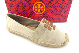 New TORY BURCH Size 9.5 WESTON Linen Espadrilles Flats Shoes 9 1/2 - $124.95