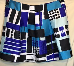 Lane Bryant Women's Skirt Plus Sz 28 Black Blue Geometric Shape - $24.18