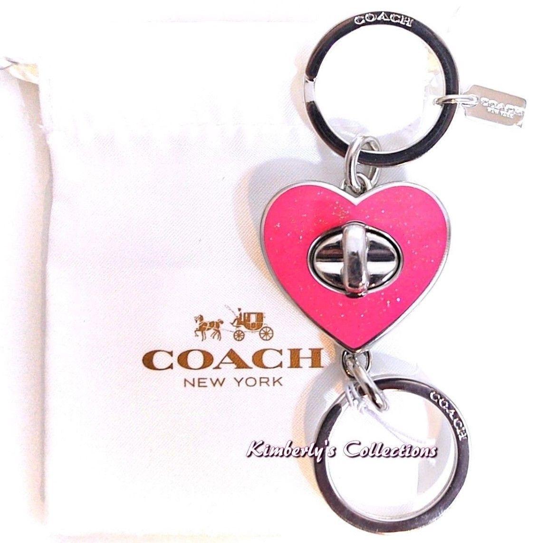 Coach Handbag Valet Keychain Pink Heart Ring And 50 Similar Items