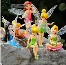 6pcs/set Christmas Kids Gift Tinkerbell Dolls Flying Flower Fairy Children Anima - $12.50