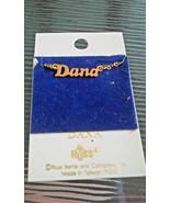 Vintage New Old Stock Russ DANA Gold Tone Script Name Plate Pendant Neck... - $5.00