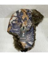 Camo Aviator Hat Trapper Hunting Tru Fit Faux Fur Lined Twill Shell New - £11.79 GBP