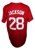 Bo Jackson #28 Memphis Chicks Custom Baseball Jersey Red Any Size image 2