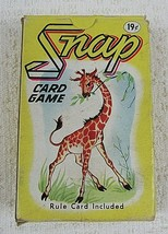 Whitman Snap Card Game Complete 45 Cards Original Box Marked 19 Cents Vintage - $9.90