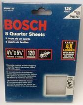 "Bosch SS4W120 5 Piece 120 Grit 4-1/2"" x 5-1/2"" General Purpose Sanding Sheets - $5.94"
