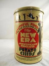 Vintage New Era Potato Chip Tin 1 lb Advertising Can Nicolay Dancey Inc.... - $9.99