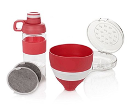 JOY Mangano Miracle Clean Water Filter Set with Case and Bottle , Red - $17.72