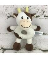 Babies R Us Dairy Cow Plush Rattle Easy Grip Soft Crib Toy Stuffed Animal   - $11.88
