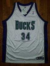 BNWT Authentic 2002 Reebok Milwaukee Bucks Ray Allen Home White Jersey 56 NWT - $309.99