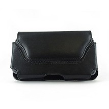 Black Horizontal Leather Case Pouch Holster For HTC HD2 HD-2 Firestone Leo - $5.00