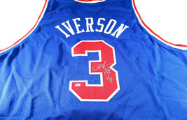 ALLEN IVERSON / NBA HALL OF FAME / AUTOGRAPHED 76ERS CUSTOM BASKETBALL JERSEY