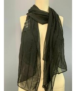 NEW INC International Concepts I.N.C. Beaded Lines Evening Wrap. BLACK - $18.62
