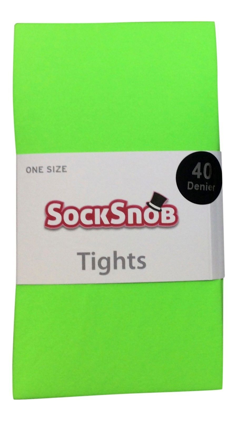 Sock Snob - Womens 40 Denier Opaque Bright Colorful Neon Tights 4-10 US