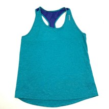 Reebok Racerback Tank Top Women's Size Medium M Blue Dry Fit Shirt Sleev... - $19.47