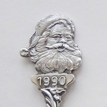 Collector Souvenir Spoon Christmas 1990 Santa Claus Repousse Bowl Mary J... - $4.99