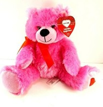"Valentine Day Pink Red Bear Love Heart Bow Plush Stuffed Animal Adventure NEW 9"" - $10.88"