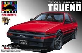 NEW Aoshima 1/24 scale Sprinter TRUENO AE86 EARLY RED/ BLACK PRE PAINTED... - $139.56