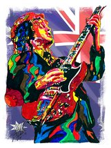 "Angus Young, AC/DC, Guitar Player, Hard Rock, Blues Rock, 18""x24"" Art Pr... - $19.99"