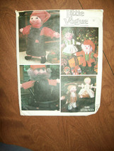 Vintage Santa & Mrs. Santa Dolls & Clothing Patterns 1546 Little Vogue - $19.57