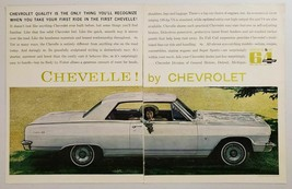 1964 Print Ad Chevelle Malibu 2-Door by Chevrolet Chevy in Field Happy Lady - $10.86
