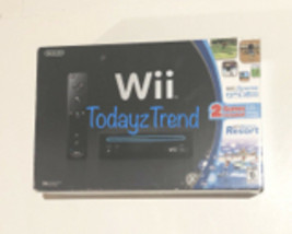 NEW Nintendo Wii Sports + Resort Bundle Black Console System with Motion... - $632.89