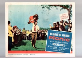 PICNIC-1961-WILLIAM HOLDEN-KIM NOVAK-DRAMA-ROMANCE-LOBBY CARD-BASED ON P... - $17.46