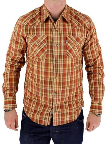NEW NWT LEVI'S MEN'S LONG SLEEVE BUTTON UP CASUAL DRESS SHIRT ORANGE 3LYLW211