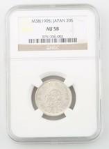 1905 Japan 20 Sen Silver Coin Slabbed AU 58 M38 NGC Graded Y 24 20S - $83.15