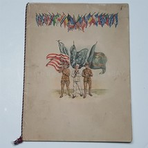 1919 antique WWI chester co pa SOLDIER SAILOR MARINES NAMES & DINNER MENU - $224.95