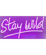 "New Stay Wild Neon Sign Acrylic Gift Light Lamp Bar Room 15""x8"" - $60.00"